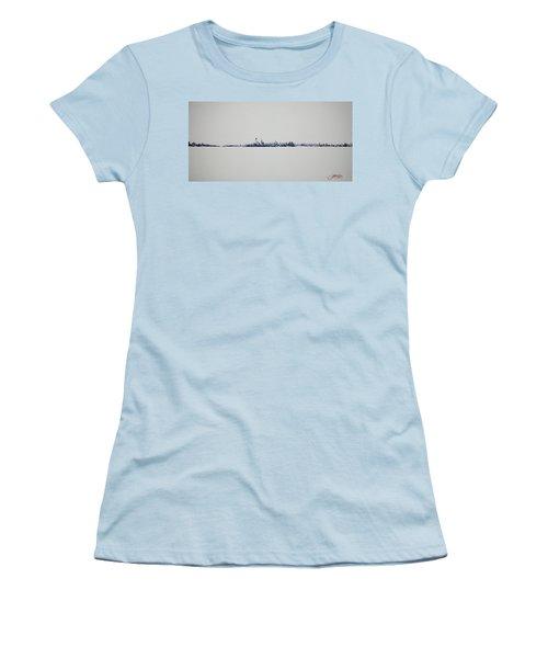 Autum Skyline Women's T-Shirt (Athletic Fit)