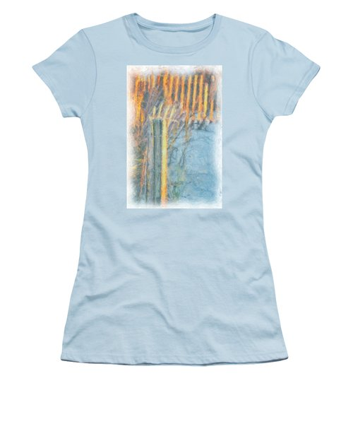 Beach Fence Women's T-Shirt (Junior Cut) by Lynne Jenkins