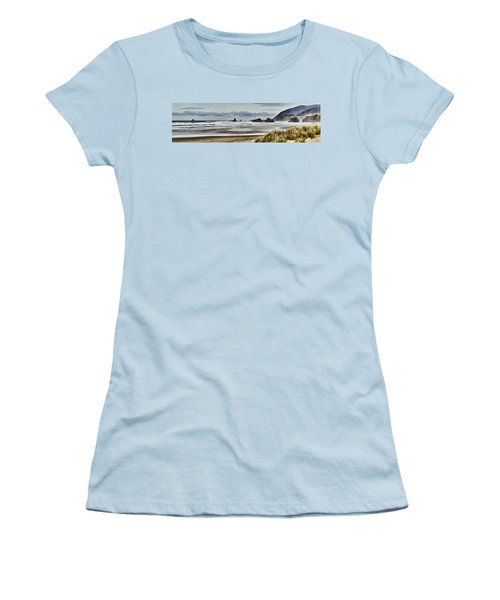 By The Sea - Seaside Oregon State  Women's T-Shirt (Junior Cut) by James Heckt