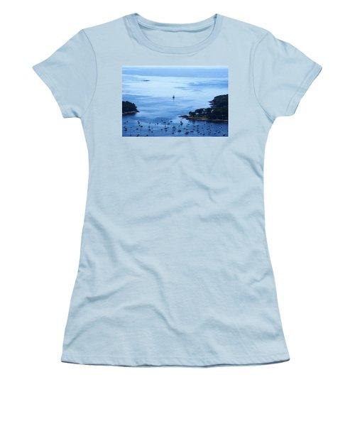Camden Harbor Women's T-Shirt (Junior Cut) by Joe Faherty