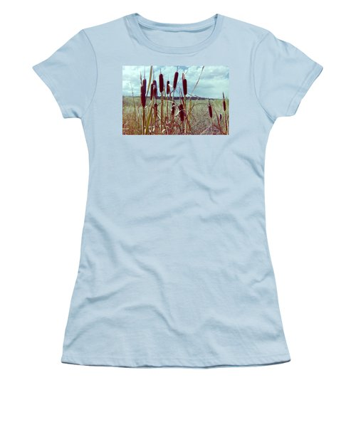 Women's T-Shirt (Junior Cut) featuring the photograph Cat Tails by Bonfire Photography