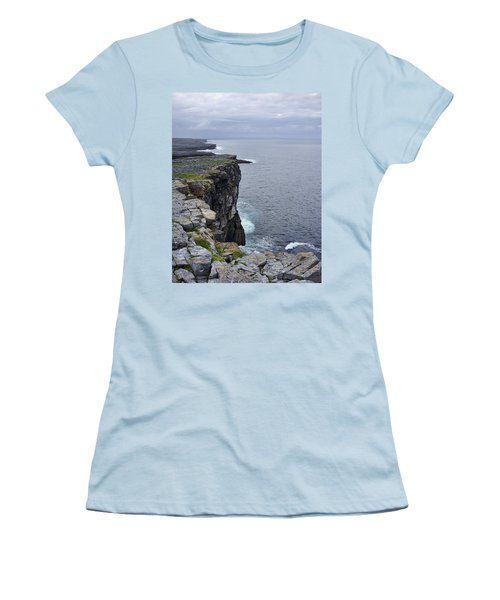 Women's T-Shirt (Junior Cut) featuring the photograph Cliffs Of Inishmore by Hugh Smith