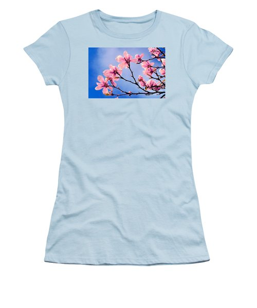 Cherry Blossums Women's T-Shirt (Athletic Fit)