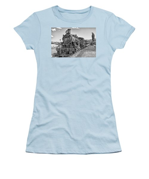 Women's T-Shirt (Junior Cut) featuring the photograph Engine 593 by Eunice Gibb