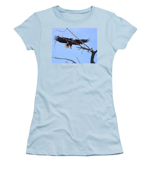Women's T-Shirt (Junior Cut) featuring the photograph Eyes On The Prize by Jim Garrison