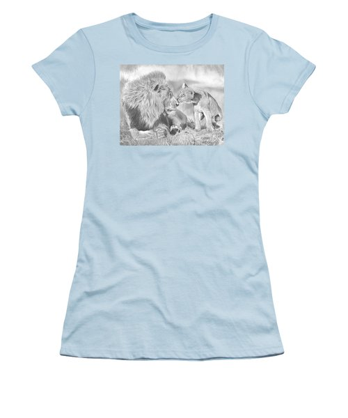 Father And Cub Women's T-Shirt (Athletic Fit)