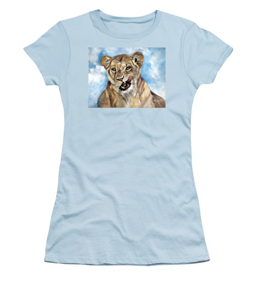 Finger Lickin Good Women's T-Shirt (Junior Cut) by Rae Andrews