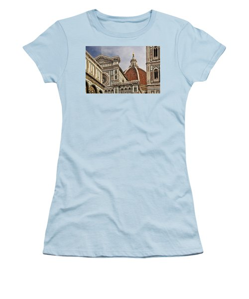 Women's T-Shirt (Junior Cut) featuring the photograph Florence Duomo by Steven Sparks