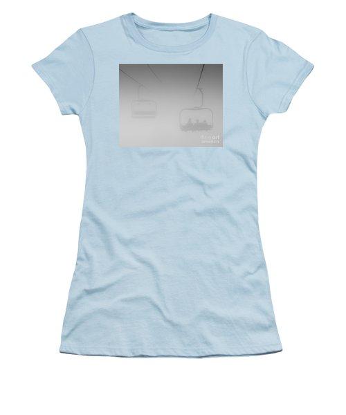 Women's T-Shirt (Junior Cut) featuring the photograph Fog by Eunice Gibb