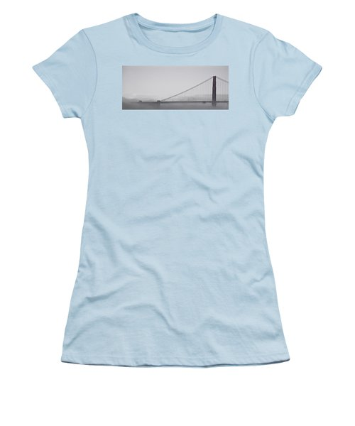 Women's T-Shirt (Junior Cut) featuring the photograph Golden Gate Morning by Don Schwartz