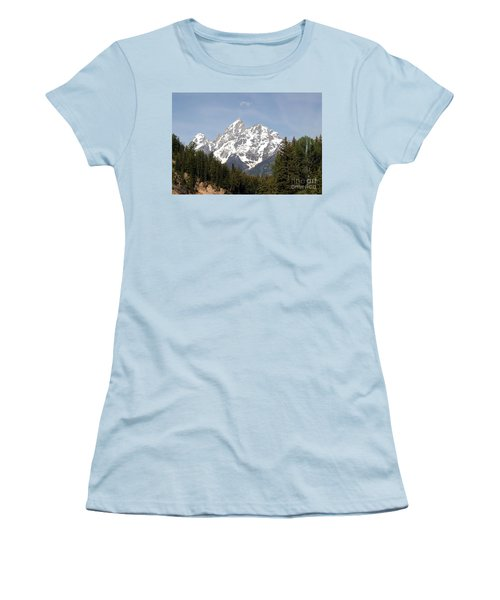 Grand Tetons Women's T-Shirt (Junior Cut) by Living Color Photography Lorraine Lynch