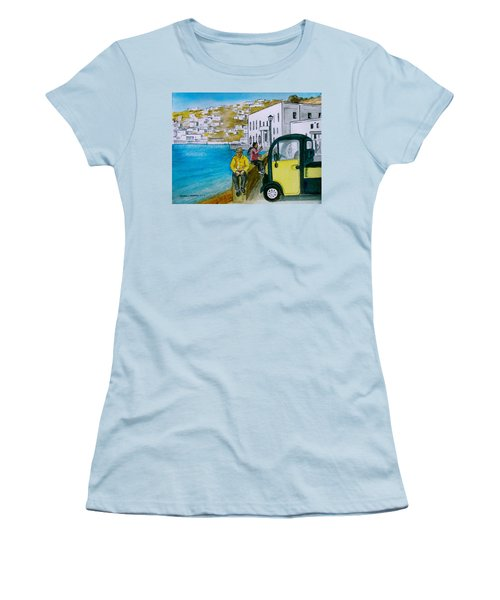 Greek Island Of Mykonis Women's T-Shirt (Junior Cut) by Frank Hunter