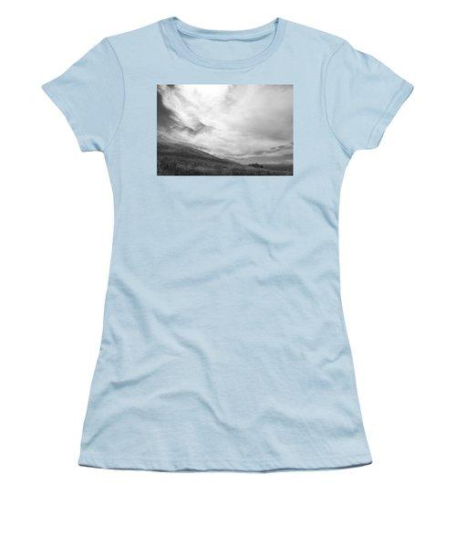 Women's T-Shirt (Junior Cut) featuring the photograph Hillside Meets Sky by Kathleen Grace