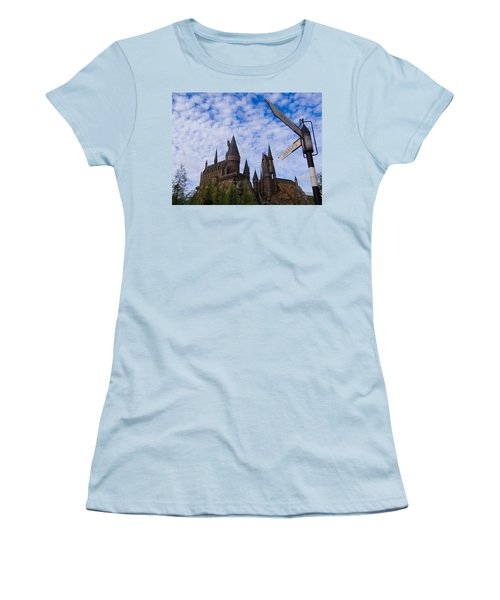 Women's T-Shirt (Junior Cut) featuring the photograph Hogwarts Castle by Julia Wilcox