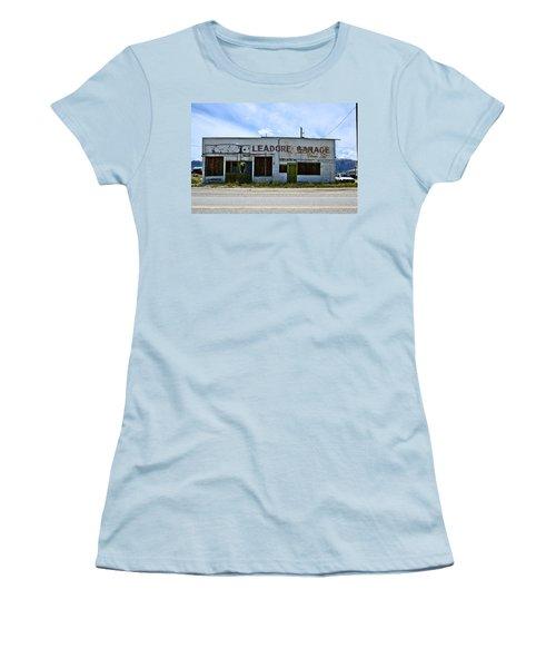 Leadore Garage Women's T-Shirt (Athletic Fit)