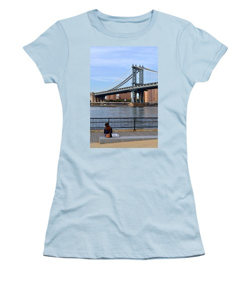 Manhattan Bridge2 Women's T-Shirt (Athletic Fit)