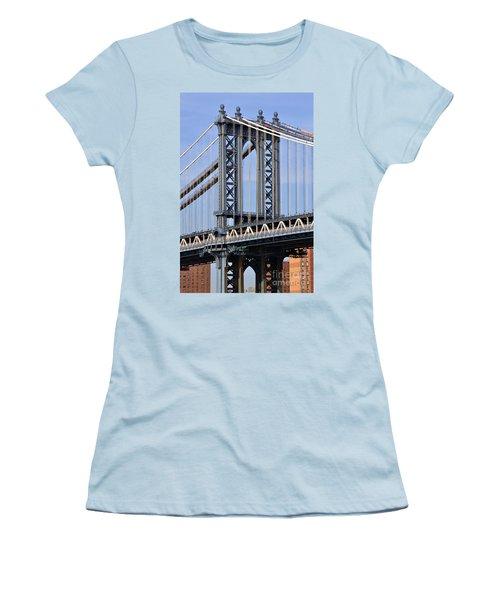 Manhattan Bridge3 Women's T-Shirt (Junior Cut) by Zawhaus Photography