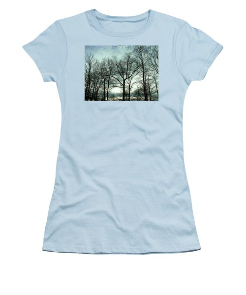 Women's T-Shirt (Junior Cut) featuring the photograph Mirage In The Clouds by Pamela Hyde Wilson