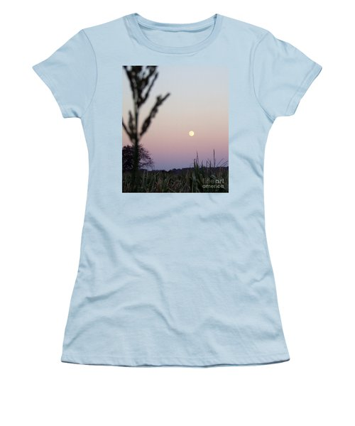 Women's T-Shirt (Junior Cut) featuring the photograph Moon by Andrea Anderegg