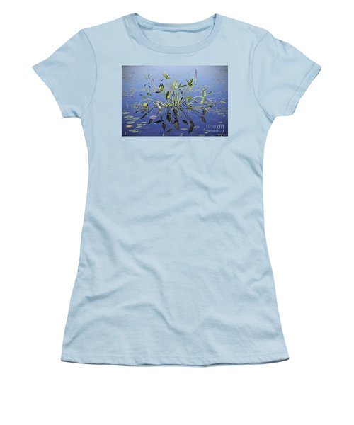 Women's T-Shirt (Junior Cut) featuring the photograph Morning Reflection by Eunice Gibb