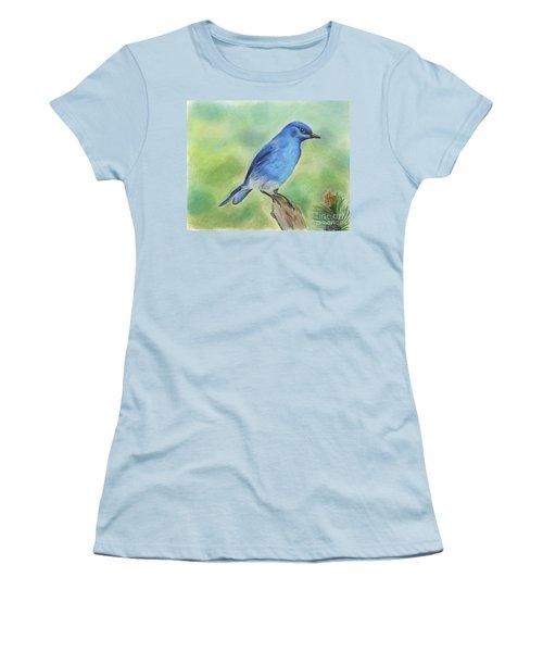 Mountain Bluebird Women's T-Shirt (Athletic Fit)
