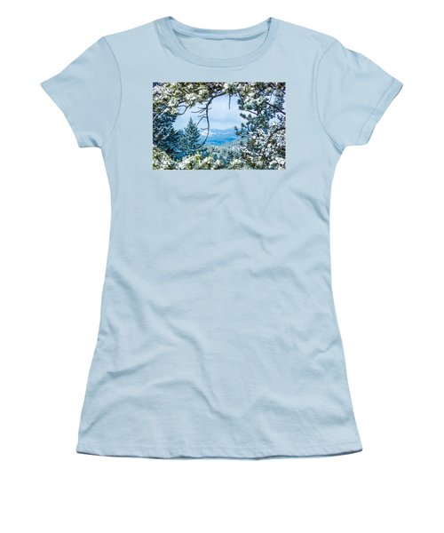 Women's T-Shirt (Junior Cut) featuring the photograph Natural Wreath by Shannon Harrington
