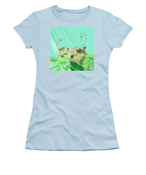 Women's T-Shirt (Junior Cut) featuring the digital art Photosynthesis by Russell Kightley