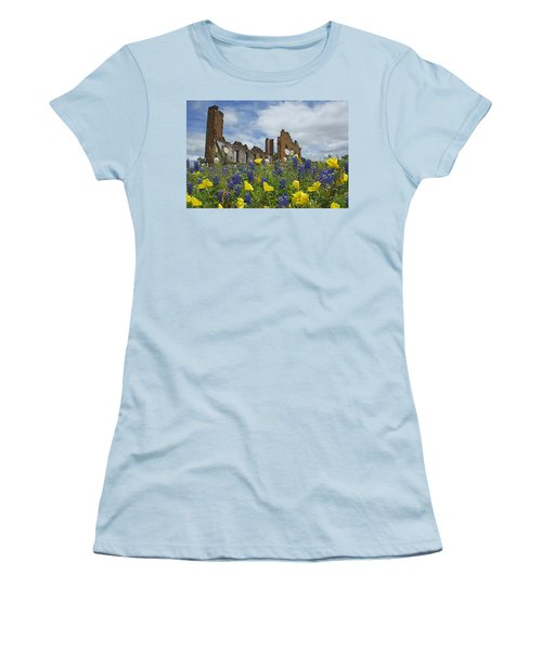 Pontotoc Schoolhouse Women's T-Shirt (Junior Cut) by Susan Rovira