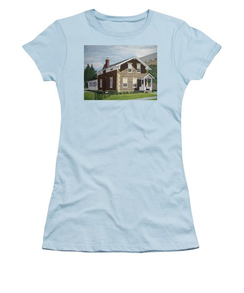 Women's T-Shirt (Junior Cut) featuring the painting Rasey House by Norm Starks