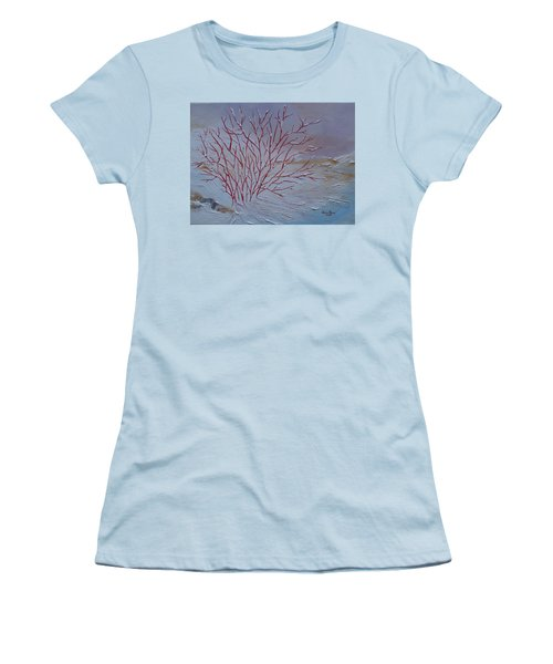 Red Branches Women's T-Shirt (Junior Cut) by Judith Rhue
