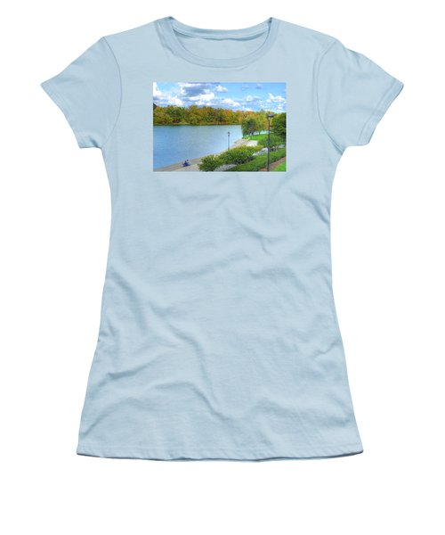 Women's T-Shirt (Junior Cut) featuring the photograph Relaxing At Hoyt Lake by Michael Frank Jr