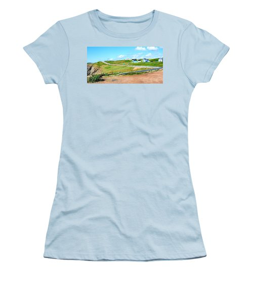 Women's T-Shirt (Junior Cut) featuring the photograph Road Trip In Cape Breton Nova Scotia by Joe  Ng