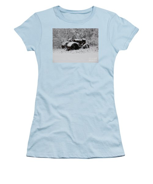 Women's T-Shirt (Junior Cut) featuring the photograph Robed In White by Christian Mattison