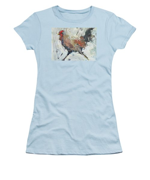 Rooster Art  Women's T-Shirt (Athletic Fit)