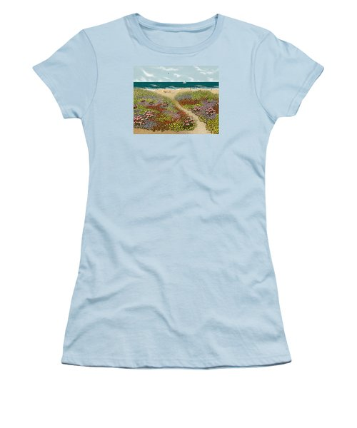 Sand Path Women's T-Shirt (Junior Cut) by Katherine Young-Beck