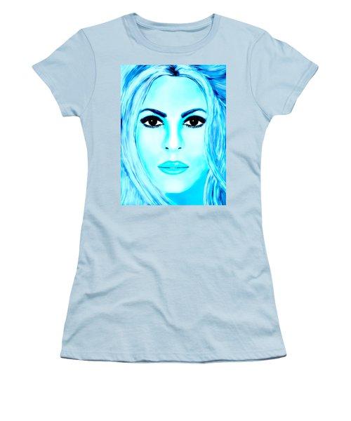 Shakira Avator Women's T-Shirt (Junior Cut) by Mathieu Lalonde