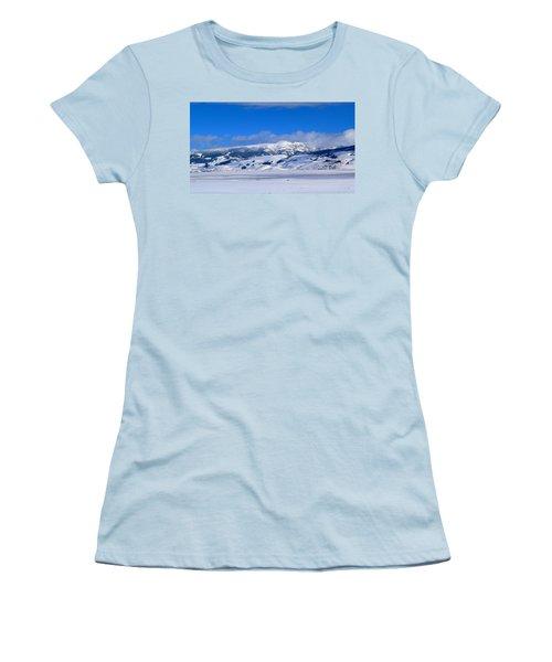 Women's T-Shirt (Junior Cut) featuring the photograph Sleeping Indian by Eric Tressler