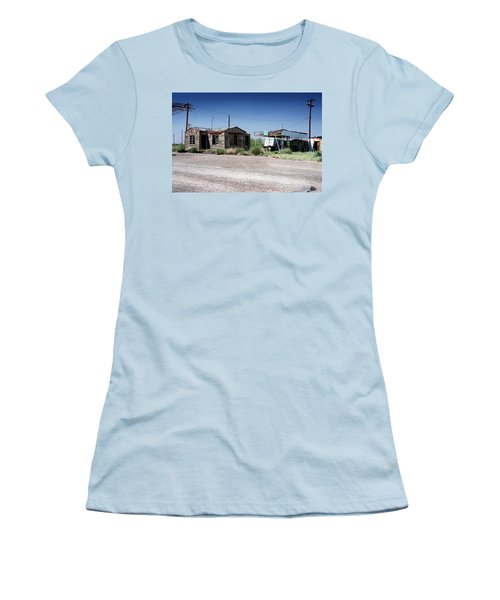 Women's T-Shirt (Junior Cut) featuring the photograph Somewhere On The Old Pecos Highway Number 8 by Lon Casler Bixby