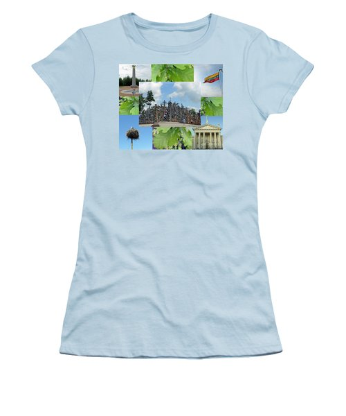 Women's T-Shirt (Athletic Fit) featuring the photograph This Is Lietuva- Lithuania by Ausra Huntington nee Paulauskaite