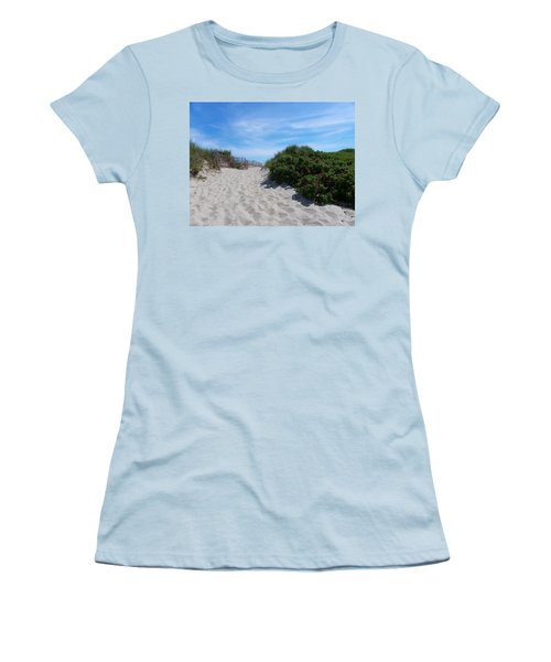 Walking Through The Dunes Women's T-Shirt (Athletic Fit)