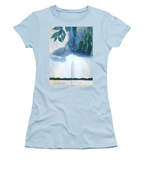 Washington Monument Women's T-Shirt (Junior Cut) by Rod Ismay