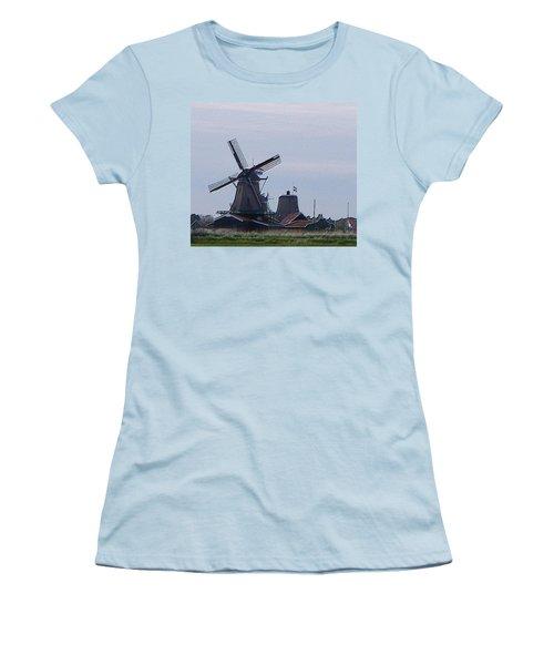 Windmill Women's T-Shirt (Junior Cut) by Manuela Constantin