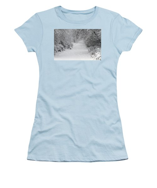 Women's T-Shirt (Junior Cut) featuring the photograph Winter's Trail by Elizabeth Winter