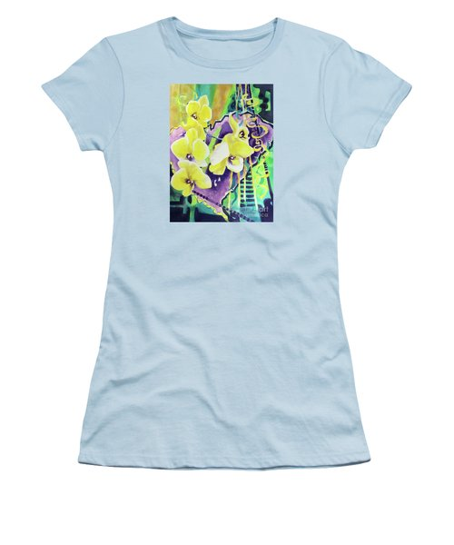 Yellow Orchids Of The Heart Women's T-Shirt (Junior Cut) by Kathy Braud