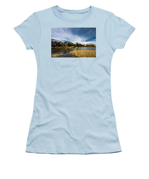 Women's T-Shirt (Junior Cut) featuring the photograph You Cannot Be Cirrus by Tom Gort