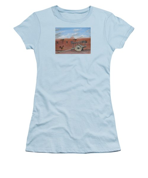 Women's T-Shirt (Junior Cut) featuring the painting  Old Spanish Cart  by Oz Freedgood