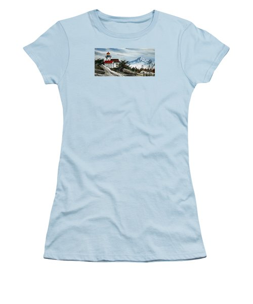 Point Robinson Lighthouse And Mt. Rainier Women's T-Shirt (Athletic Fit)