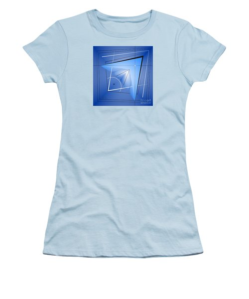 Women's T-Shirt (Junior Cut) featuring the digital art  Structural Limitations Of Thought by Leo Symon