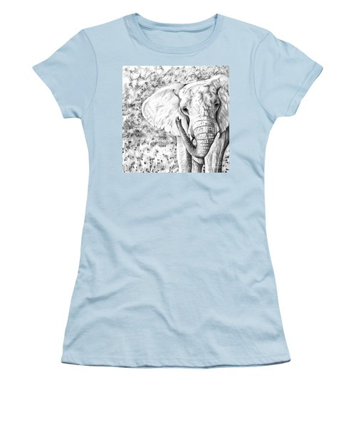 01 Of 30 Elephant Women's T-Shirt (Athletic Fit)