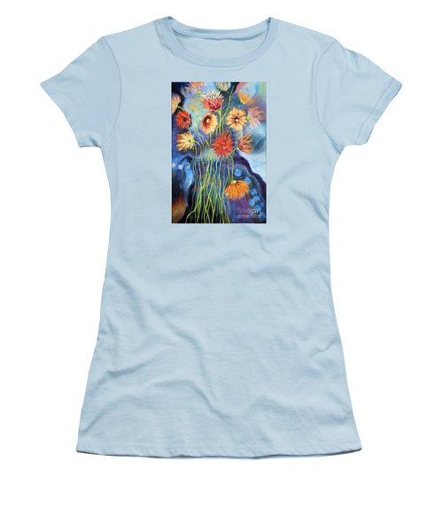 01314 African Daisies Women's T-Shirt (Junior Cut) by AnneKarin Glass